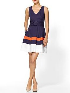 I want to wear this Kate Spade dress to a UVA football game. I so miss guys in ties, girls in pearls. College nostalgia!