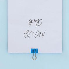 turning heads   #typography #handlettering #type #handwriting #signature #logo #graphicdesign #art #pastell #color #blue #bykajahoglund #typebykajahoglund
