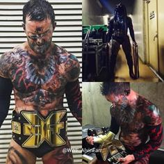 Finn Balor Before and after Winning The nXt title