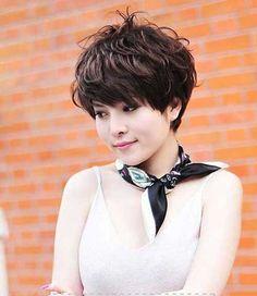 Asian Style Wavy Pixie