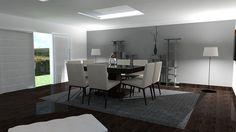 Projekt salonu w nowoczesnym designie