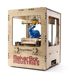 The MakerBot Thing-O-Matic® Printer kit you assemble to create the latest in cutting edge personal manufacturing technology. Home 3d Printer, 3d Printer Kit, 3d Printer Designs, Inkjet Printer, Printer Storage, Impression 3d, What Is 3d Printing, 3d Printing Service, 3d Printing Technology