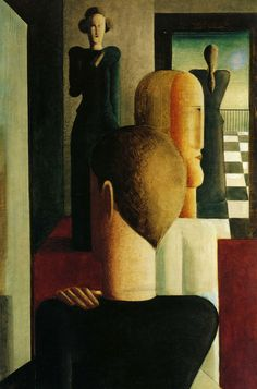 Oskar Schlemmer was a German painter, sculptor, designer and choreographer associated with the Bauhaus school. In 1923 he was hired as Master of Form at the Bauhaus theatre workshop, after working some time at the workshop of sculpture.
