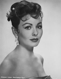 Jeanne Crain Diva E, Jeanne Crain, Classic Actresses, Classic Beauty, Vintage Beauty, American Actress, Cinema, Hollywood, Black And White