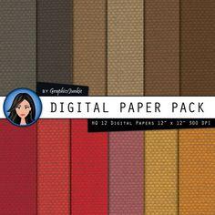 Linen digital paper Warm Colors Linen Digital by GraphicsJunkie, $4.80