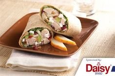 A quick and healthy lunch: Turkey salad roll-ups!
