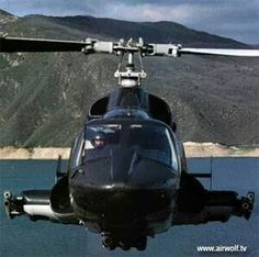 Airwolf (fictitious super-sonic attack helicopter), prop based on the Early Bell Helicopter, Attack Helicopter, Military Helicopter, Military Aircraft, Private Plane, Private Jet, Gi Joe, Emission Tv, Tire Tracks