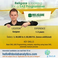 Religare is looking for a #SAS Programmer