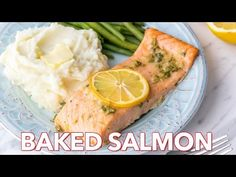 This baked salmon is incredibly flavorful, juicy and flaky. An all-star favorite salmon recipe! Oven baked salmon is a quick and easy dinner idea.