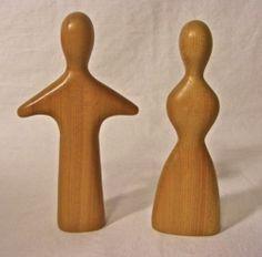 Antonio Vitali Swiss Toy Male Female Wood Figurine 423 Mid Century   eBay
