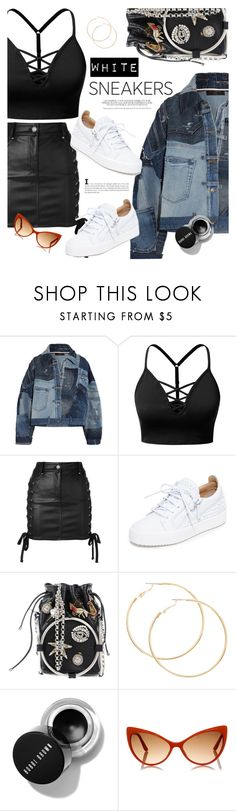 """""""White Sneakers"""" by hafizhahtika ❤ liked on Polyvore featuring Dolce&Gabbana, J.TOMSON, Versus, Giuseppe Zanotti, Alexander McQueen, Tom Ford, sneakers, polyvorecontest and whitesneakers"""