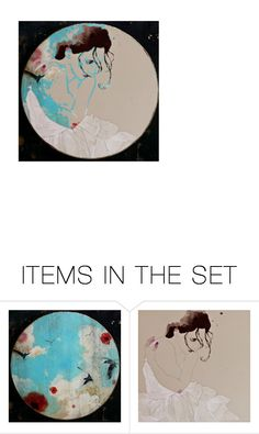 """""""Faces"""" by amy-jean ❤ liked on Polyvore featuring art"""