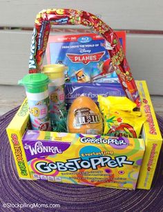 This Easter Candy Basket themed for Movie Night was so easy to make!