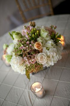 Gorgeous subtle pink green and white palette....Flowers by Holly Chapple Flowers - http://thefullbouquetblog.com/