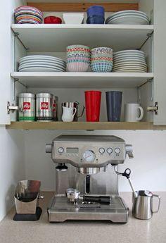 organized kitchen/espresso bar via love nordic design