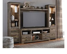 Trinell 4pc Entertainment Center