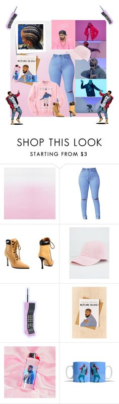 """HOTLINE BLING"" by te3nz ❤ liked on Polyvore featuring Designers Guild, Drakes London, Manolo Blahnik, Post-It, Blue Crown, Tay Ham, DRAKE and my"