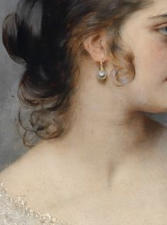 Portrait of a young Venetian girl (detail) Eugene von Blaas Classic Paintings, Old Paintings, Beautiful Paintings, Renaissance Paintings, Renaissance Art, Angel Aesthetic, Aesthetic Art, Princess Aesthetic, Aesthetic Painting