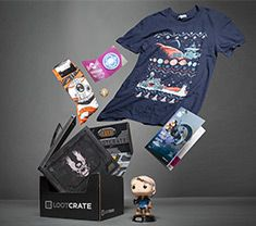 Loot Crate  Sign up now and get a $5 discount off your first Loot Crate. Check out all the different types of crates they have for gaming, anime, and Loot Wear!!