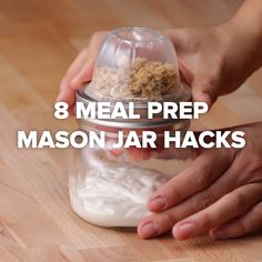 8 Mason Jar Meal Prep Hacks kids lunch hack mealprep is part of Mason jar meals - Mason Jar Meals, Meals In A Jar, Mason Jars, Mason Jar Recipes, Mason Jar Lunch, Snack Jars, Mason Jar Desserts, Healthy Meal Prep, Healthy Snacks