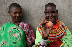 The Kuku Project—AWF worked with the Maasai women of the Nkiloriti Group Ranch to set up a women's group business selling chicken (kuku) eggs. Photo credit: Paul Thomson