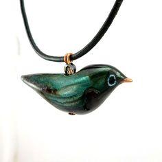 Enameled Robin Necklace No. 1 - sold