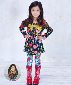 Loving this Pink Lisa Tunic Set & Doll Outfit - Infant, Toddler & Girls on #zulily! #zulilyfinds