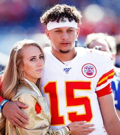 Football Couple Pictures, Football Couples, Kansas City Chiefs Football, Nfl Football, Football Stuff, Nfl Wives, Chiefs Wallpaper, Professional Soccer, Proposal Photos