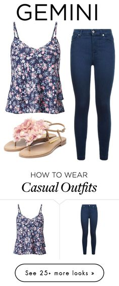 """""""Casual Wear"""" by engy-saleh on Polyvore featuring Miss Selfridge, 7 For All Mankind, Rupert Sanderson, casualoutfit, CasualChic, gemini, fashionhoroscope and stylehoroscope"""