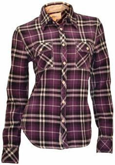 True Religion Brand Jeans Women's Plaid Flannel Shirt Purple