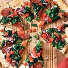25 Healthy Pizza Recipes | Manchego and Chorizo Pizza | CookingLight.com