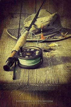 Fly fishing equipment with old... #FlyFishing