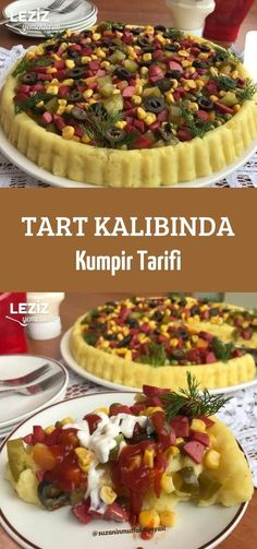 Tart Kalıbında Kumpir Tarifi potato al horno asadas fritas recetas diet diet plan diet recipes recipes Baking Recipes, Snack Recipes, Salad Recipes, Tart Molds, Baked Potato Recipes, Yummy Food, Tasty, Food Categories, Turkish Recipes