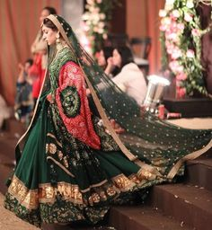 Latest Collection of Lehenga Choli Designs in the gallery. Lehenga Designs from India's Top Online Shopping Sites. Indian Bridal Outfits, Indian Bridal Lehenga, Pakistani Bridal Dresses, Indian Dresses, Pakistani Lehenga, Bridal Dupatta, Lehenga Wedding, Wedding Hijab, Bridal Gowns