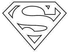 Resultado de imagen para escudo superman para colorear