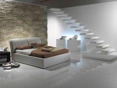 Cooles-schlafzimmer-modern-gestalten-gläserne-wände | Schlafzimmer ... Schlafzimmer Gestalten Mit Steinwand