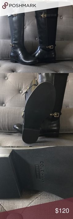 COLE HAAN Riding Boots 👢 ❤️💕 Absolutely Gorgeous pair of COLE HAAN Boots size 5 1/2 B brand new still in Box 📦 price just lowered 💵💖 Cole Haan Shoes