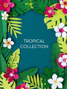 Giant Flowers, Paper Flowers, Paper Leaves, Tropical Party, Tropical Paradise, Create A Banner, Hawaiian Party Decorations, Theme Nature, Hawaiian Theme