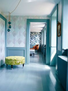 Thehuset wallpaper and colours by TAPET CAFE and Farrow and Ball