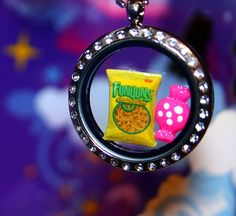 Funyuns Inspired Floating Charm  Classic Snack Junk by RepliKitty, $2.00