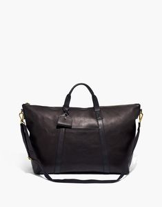 Madewell The Essential Overnight Bag in Leather Travel Luggage, Luggage Bags, New Handbags, Women's Accessories, Leather Bag, Purses, Madewell, Shoulder Bags, Shoulder Strap