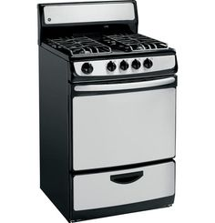 Our GE Standard Free-Standing Gas Range holds heavy-cast grates, offering lasting performance in your kitchen.