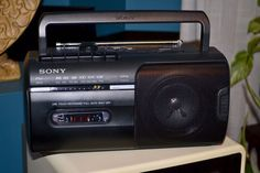 Sony CFM-10 AM/FM Radio Cassette Recorder AC/DC Tested Works Good Boombox #Sony