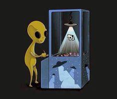 weird plushies retro old school Cosmos alien aliens UFO Extraterrestrial claw machine