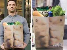 Clever #marketing  with this shopping bag PD