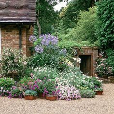 nice border - maybe create something like this with a plant theatre or some kind of structure.