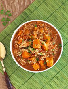 Slow Cooker Butternut Squash Quinoa Chicken Stew