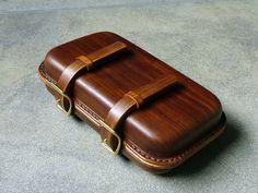 Original brand lunch bag handmade retro wood grain vegetable tanned leather head skin hand ...