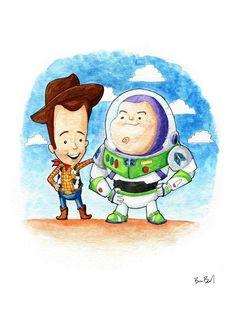 Buzz and Woody Toy Story Fan Art Watercolor Print Cute Disney Drawings, Disney Princess Drawings, Watercolor Print, Watercolor Paper, Toy Story, Story Drawing, Drawing Wallpaper, Disney Fan Art, Art Drawings