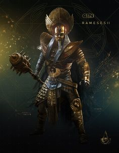 The Curse of the Pharaohs Assassins Creed: Origins Ramesses II The Assassin, Assassins Creed Series, Assassins Creed Origins, Egyptian Mythology, Ancient Egyptian Art, Egypt Concept Art, Tomb Kings, Fantasy Warrior, Character Art